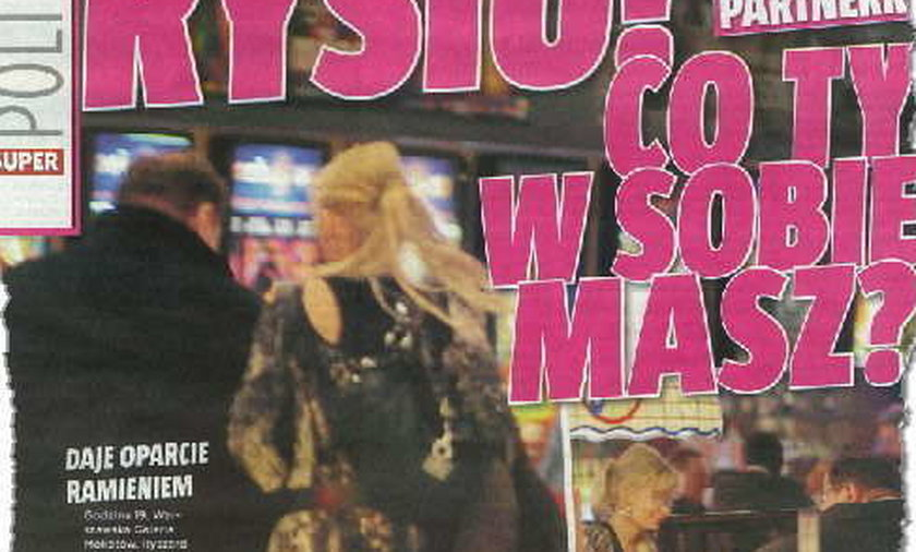 Kalisz z tajemniczą blondynką