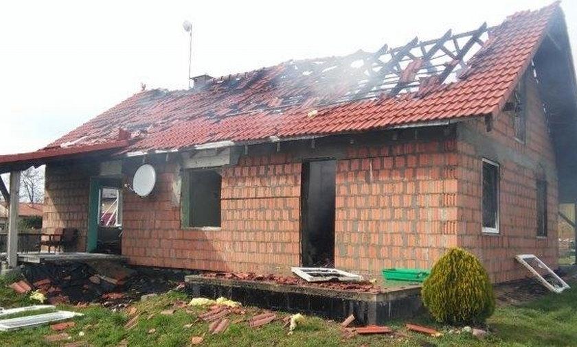 Wybuch w domu jednorodzinnym