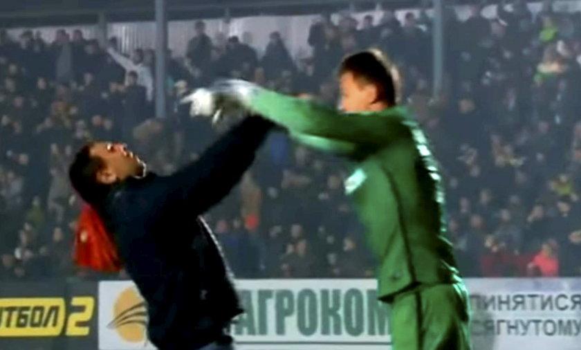 Szalone sceny w meczu ligowym na Ukrainie