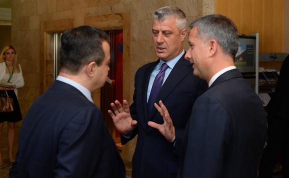 Ivica Dačić i Hašim Tači