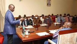File Image of DP Ruto at a Meeting