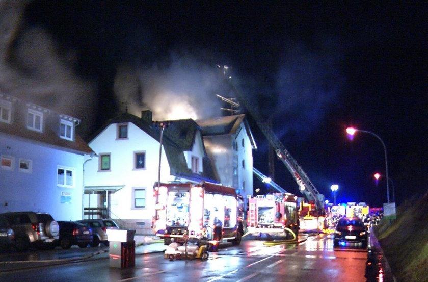 Pożar w Niemczech