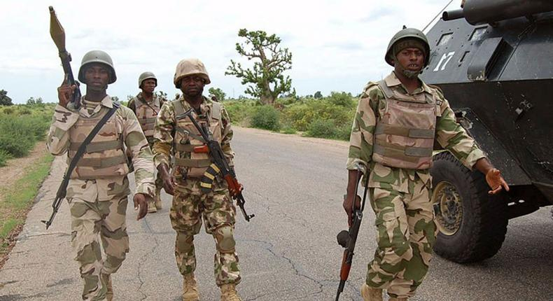 Nigerian soldiers [NNN]