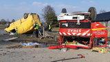 Wypadek wozu strażackiego OSP pod Wieluniem. Są ranni