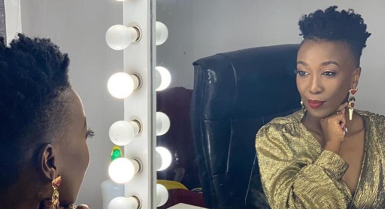 Singer Wahu Kagwe in mourning