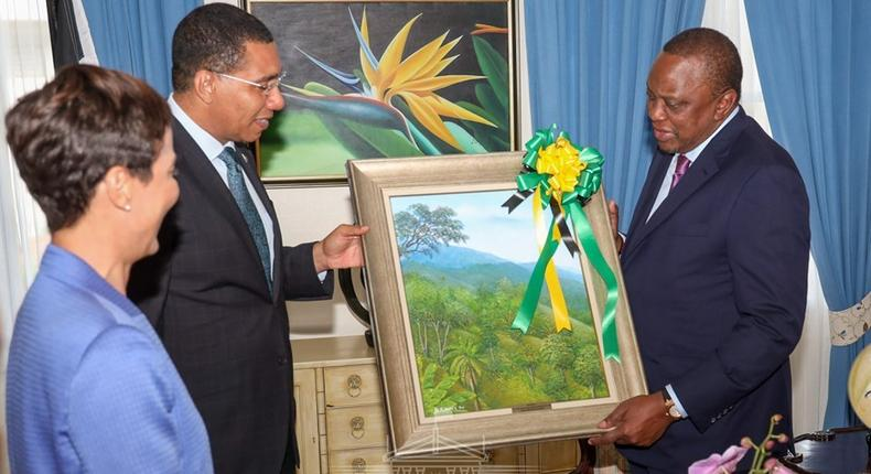 My brother is married to a Jamaican's daughter – President Uhuru Kenyatta says during state visit in Kingston