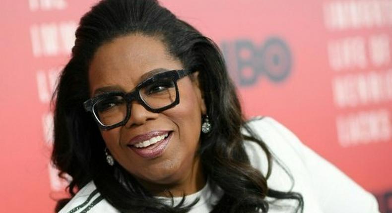 Oprah Winfrey attends The Immortal Life of Henrietta Lacks premiere on April 18, 2017 in New York City