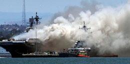 Pożar na okręcie wojskowym w San Diego. 21 osób zostało rannych