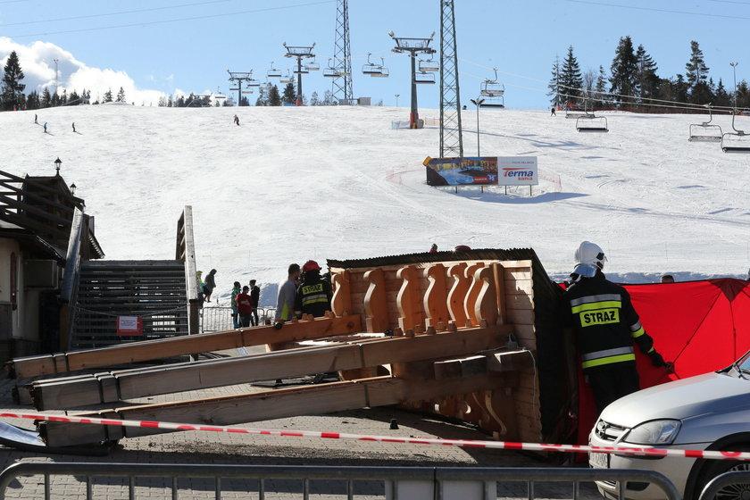 Zmarł 7-latek, którego przygniotła drewniana konstrukcja w Białce Tatrzańskiej