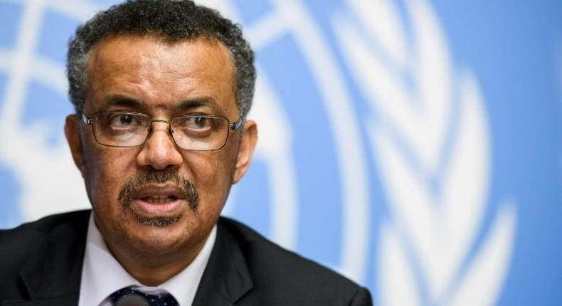 World Health Organization (WHO) Director General Dr Tedros Adhanom Ghebreyesus