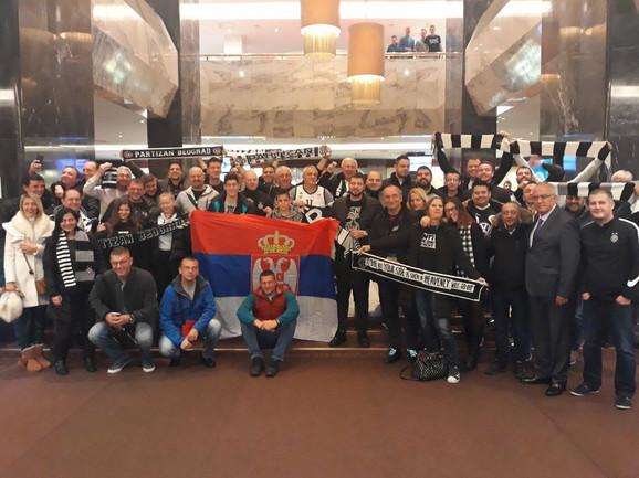 Navijači Partizana u Sankt Peterburgu