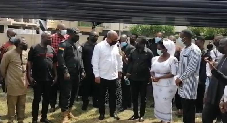 John Mahama commiserates with the Hamah family