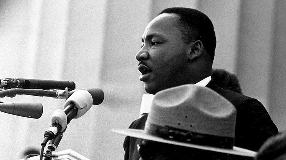 Martin Luther King w Waszyngtonie  w 1963 roku - domena publiczna