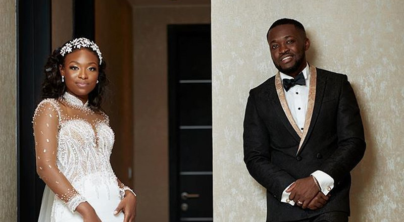 Check out this classy suit Osei Kwame Despite's son wore for his lavish wedding