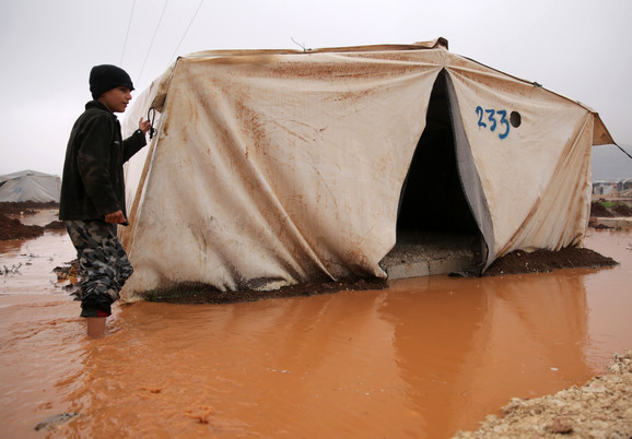 Kamp u Sarmadi je krajem prošle godine pogodila poplava