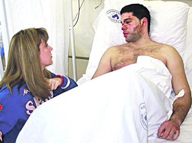 Alimpijević u bolnici posle udesa 2010. godine