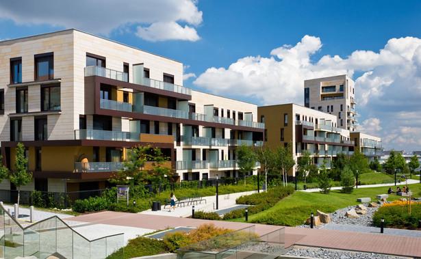 Bloki na osiedlu mieszkaniowym