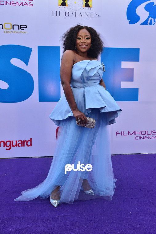 Omawumi at 'She Is' movie premiere [PULSE]