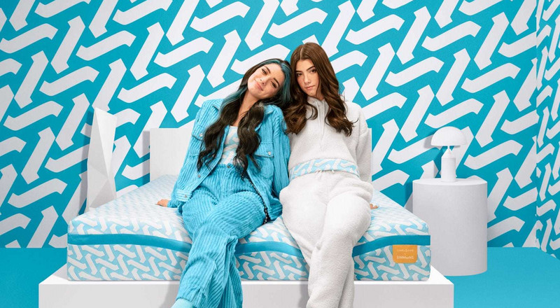 Charli and Dixie D'Amelio made a mattress with Simmons, the latest brand turning to TikTok stars to target a younger audience