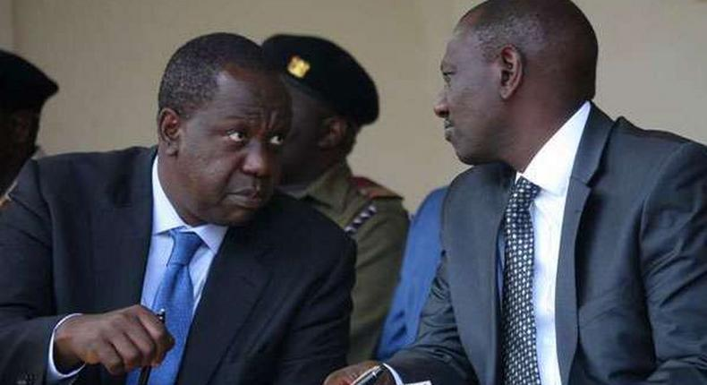 Interior CS Fred Matiang'i with Deputy President William Ruto during a past event