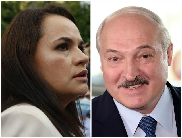 Svetlana Tihanovska i Aleksandar Lukašenko