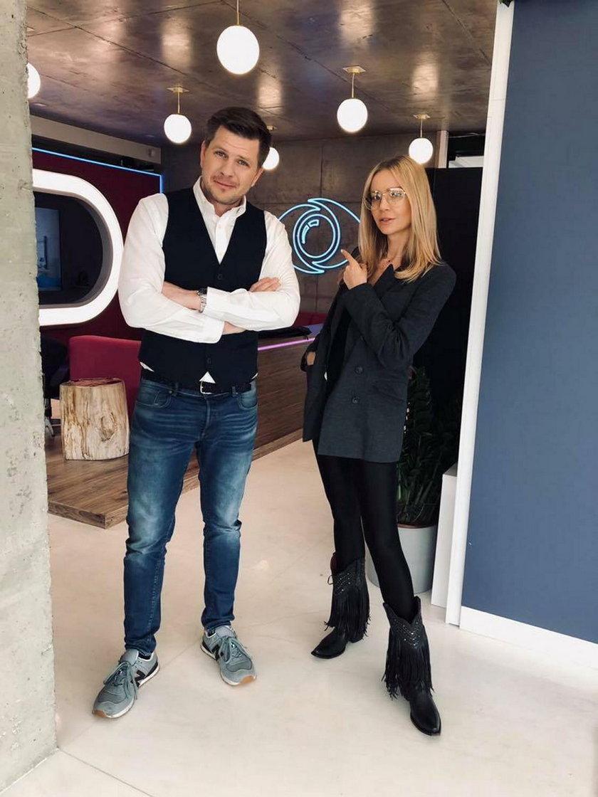 Filip Chajzer i Agnieszka Woźniak-Starak