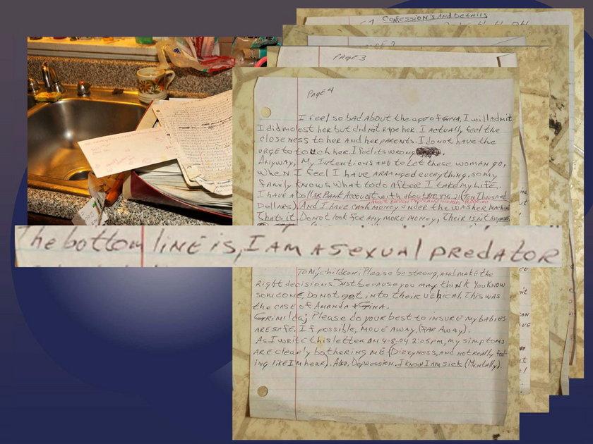 List znaleziony w domu Castro