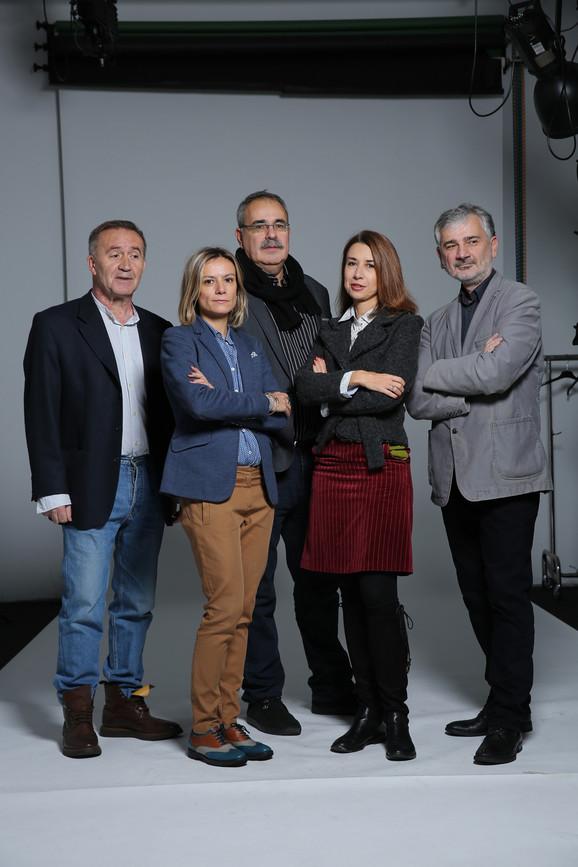 NIN-ov žiri: Božo Koprivica, Tamara Krstić, Mihajlo Pantić, Jasmina Vrbavac, Zoran Paunović