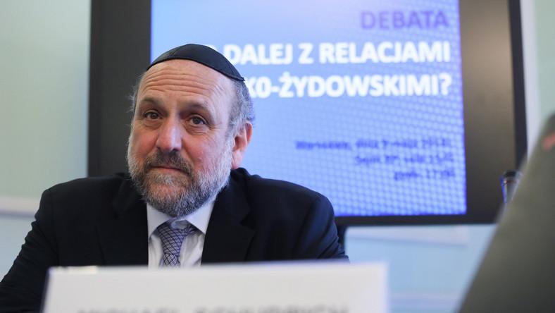 Naczelny rabin Polski Michael Schudrich
