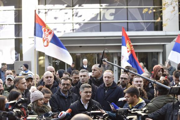 SzS, RTS, protest, opozicija