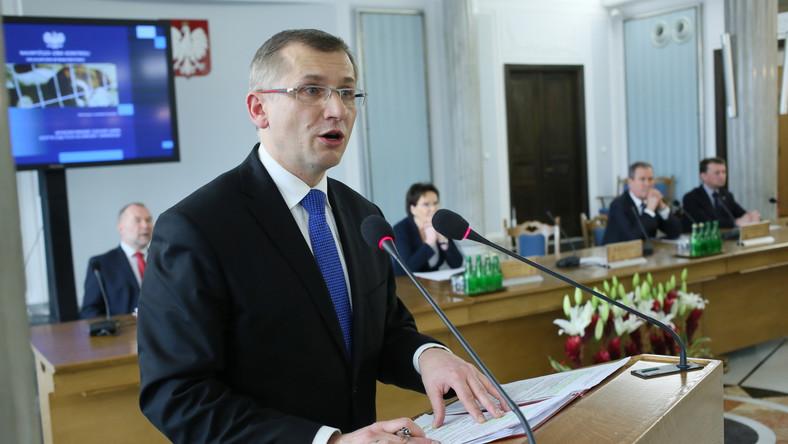 Prezes NIK Krzysztof Kwiatkowski przed seminaryjnym posiedzeniem Kolegium Najwyższej Izby Kontroli z okazji 95-lecia utworzenia NIK