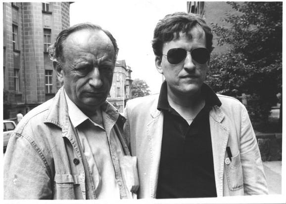 Duško sa sinom Milošem