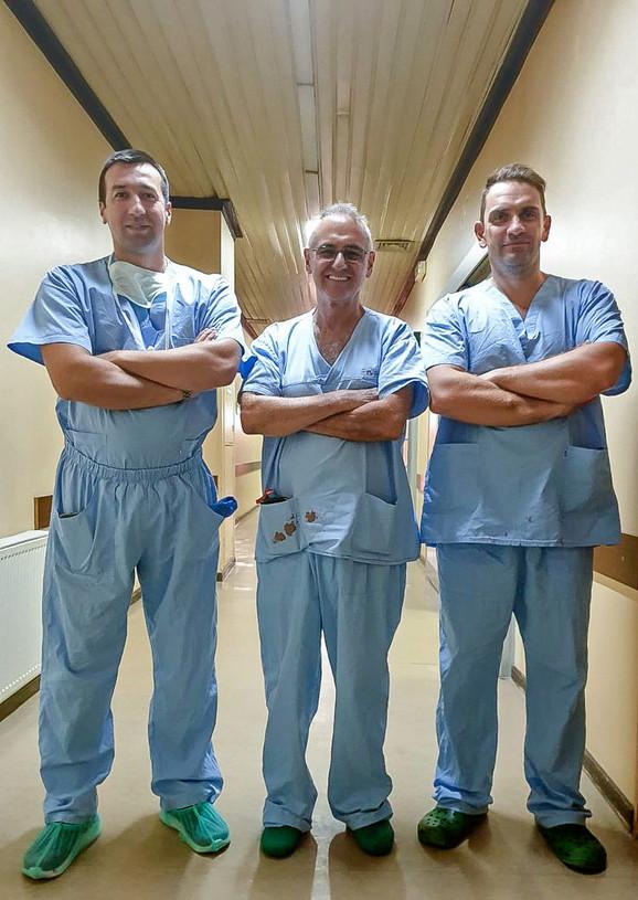 Dr  Ivan Stojadinović, dr Norberto Ventura i dr Srđan Vlajović