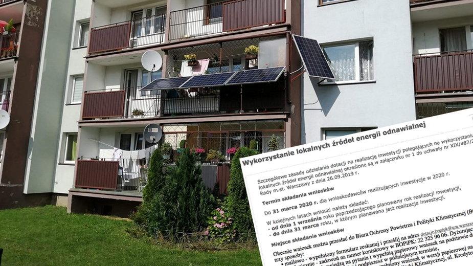 Do 15000 plus na panele słoneczne w Warszawie. Jak dostać dotację?