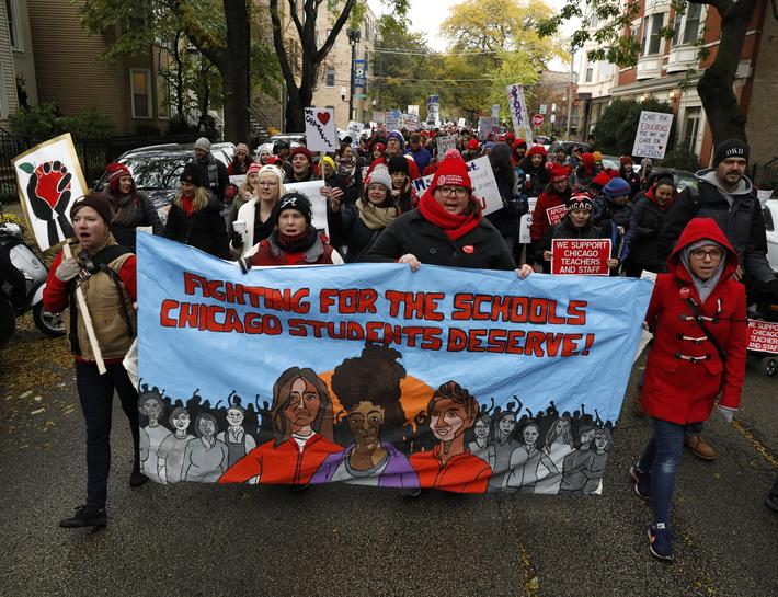 Chicago Teachers Union Hold Strike