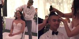 Panna młoda zrobiła na własnym weselu coś szokującego. Miała ważny powód