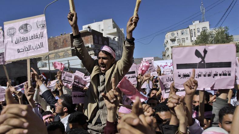 Protesty w Jemenie
