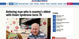 Ma zespół Downa i właśnie skończył 78 lat. Lekarze w szoku