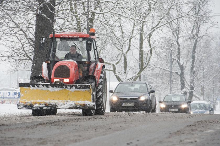 Katowice. Śniezyce i zawieje