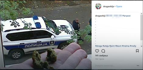 Drsko: Fotografije sa marihuanom i policija u pozadini, kao izazov na ovom Instagram profilu