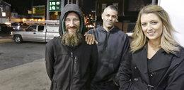 Chytra para okradła bezdomnego. Ta historia ma piękny finał