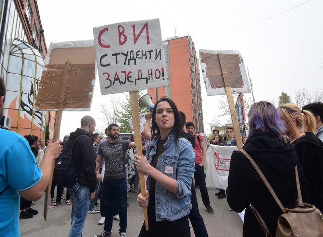 Novi Sad20 Studentski protest protiv rezima foto Nenad MIhajlovic