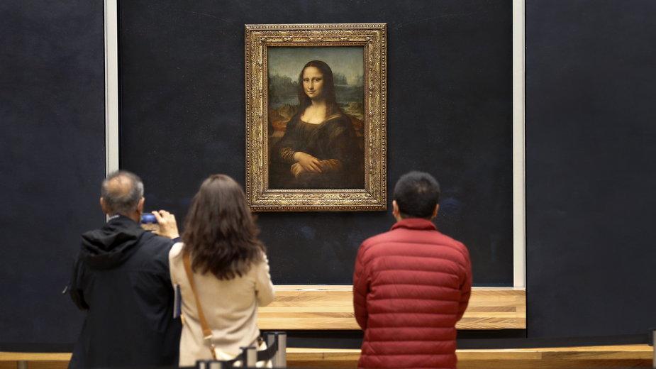 """""""Mona Lisa"""" w paryskim Luwrze"""