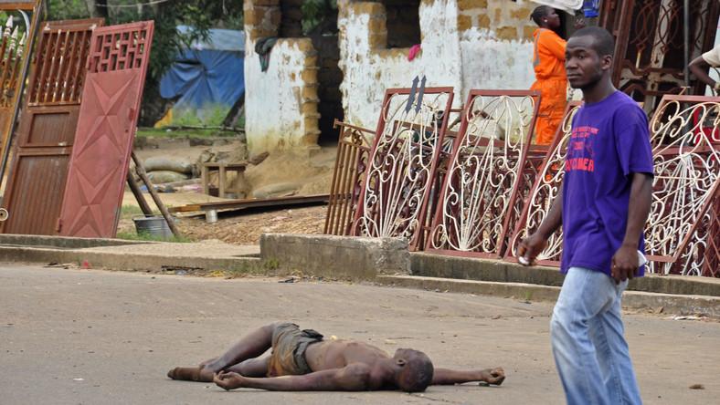 Zwłoki na ulicach Monrovii, stolicy Liberii