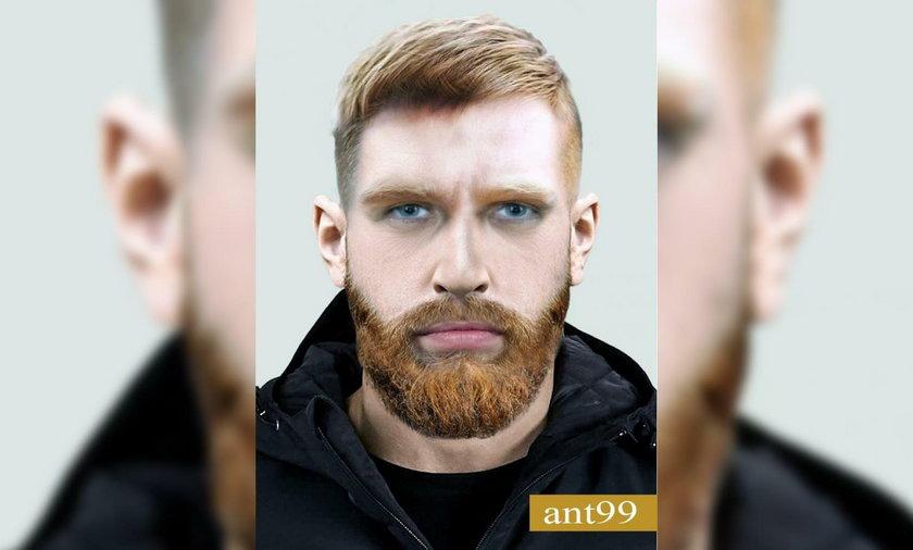 Poszukiwany mężczyzna ma ok. 40 lat i ok. 180 cm wzrostu. Jest blondynem o niebieskich oczach.