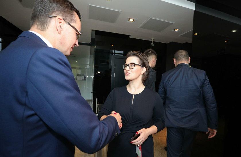 Mateusz Morawiecki i redaktor naczelna Faktu Katarzyna Kozłowska