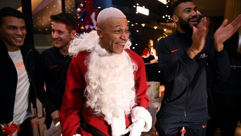 Kylian Mbappe, who dressed up after Paris Saint-Germain beat Amiens, has told Santa that he wants the Olympics too