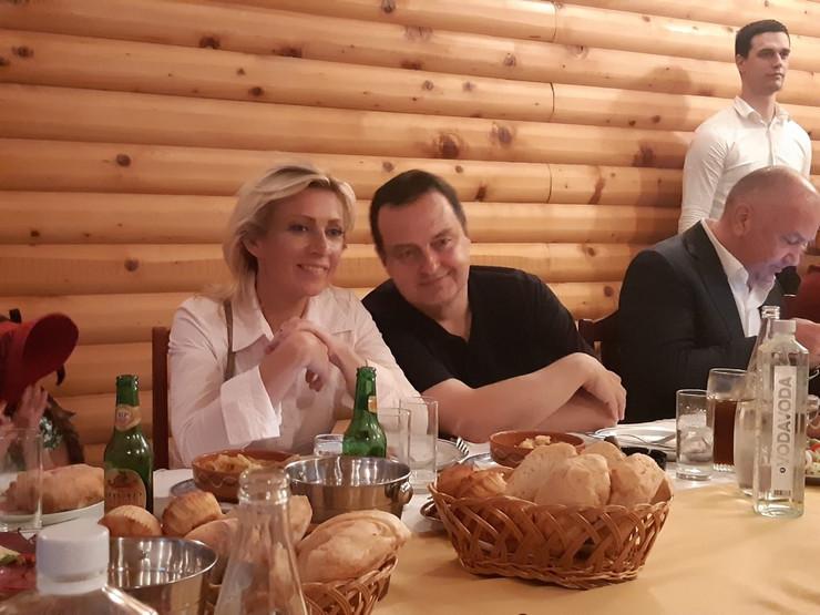 Marija Zaharova Ivica Dačić GUča foto ras