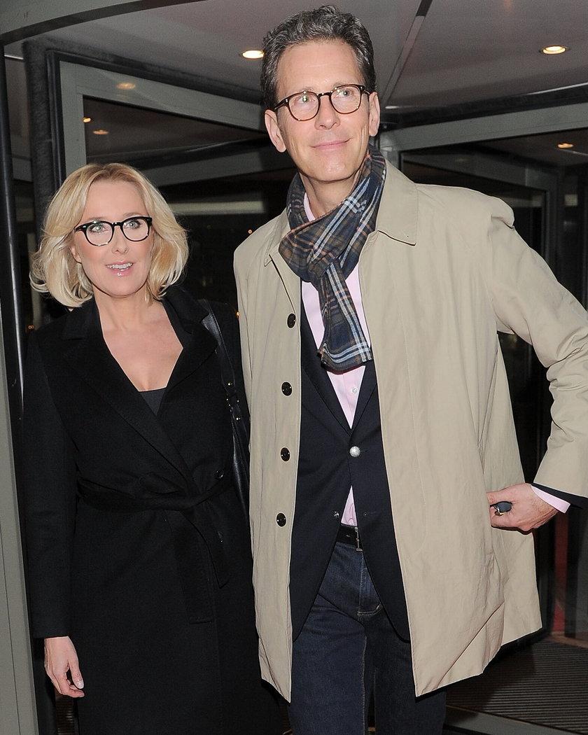 Agata Młynarska z mężem