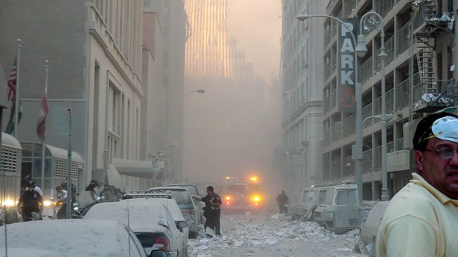 Tak wyglądała Strefa Zero 11 września 2001 r. po zamachach terrorystycznych